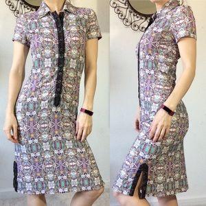 Zac Posen Geometric Stretchy Sporty Dress